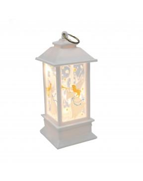 Lampion adwentowy mini biały
