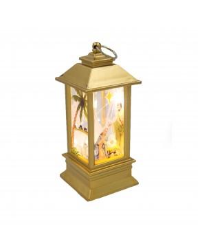 Lampion adwentowy mini złoty
