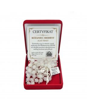Różaniec srebrny 6 mm -...