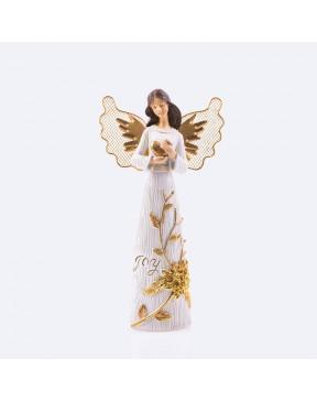 Anioł - Decorato - serce 24 cm